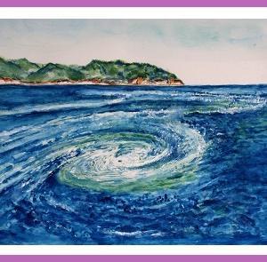 鳴門海峡の渦潮  (1806)