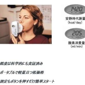 痩せるインナー「背中クールタイ」の基礎代謝量をメタボリックアナライザーで測定