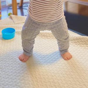 赤ちゃんがダウンドッグ始めたと思ったら急に立った、という話。