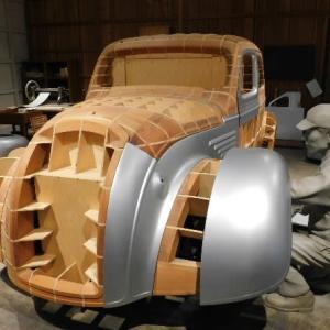 トヨタ 初の乗用車 ボディの木枠