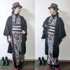 ペアな雰囲気の着物で昭和レトロな喫茶店へ