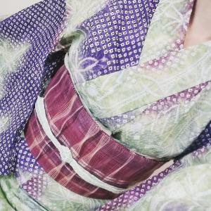 おうち浴衣3種 有松絞り、綿紅梅、綿絽