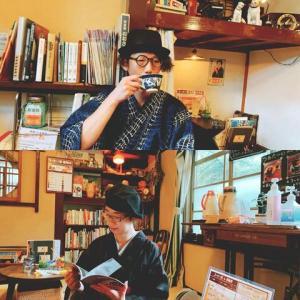 着物夫婦で昭和レトロ喫茶&神社へお散歩
