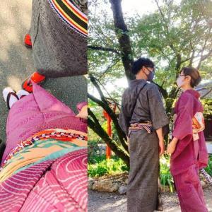 着物夫婦またまた京都散策 夜は八坂の搭へ
