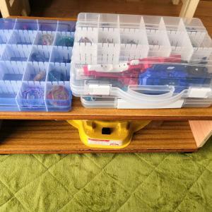 ◆■学校机の天板でベイブレード関連収納棚を作りました■◆