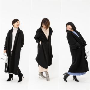 ★黒コートをもっと素敵に!色&柄のチラ見せで大人コーデを格上げ