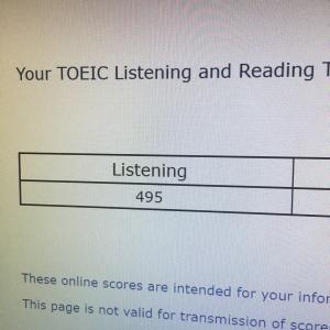 昨夜のTOEIC IP結果