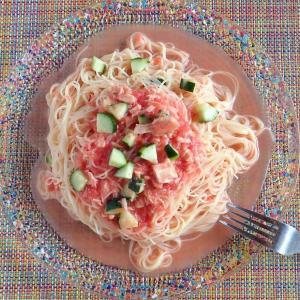 すりおろしトマトのカッペリーニ