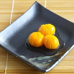 金柑の甘煮(菊の花型)