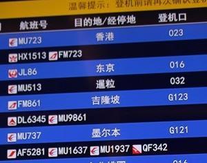 上海浦東空港 中国東方航空ビジネスクラスNo.36ラウンジ