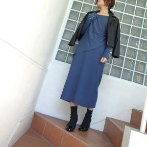 NINE カシュクールニットドレス