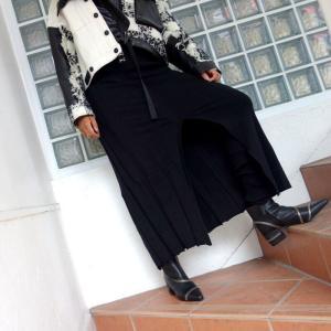 AULA AILA レイヤードニットスカート