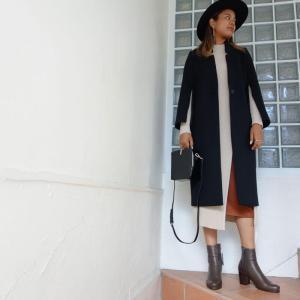 ELENDEEK シャイニースカートセットワンピース styling/ ノーカラーチェスターコー