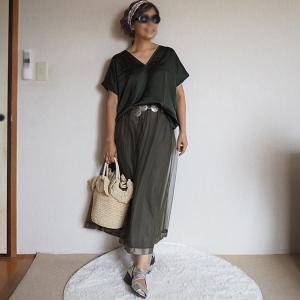 【50代コーデ】MANGOマンゴの新着Tシャツ&スカーフでコーデ(その2)