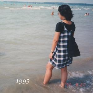 【50代コーデ】キャミワンピ。1995年当時の私のコーデ(その2)
