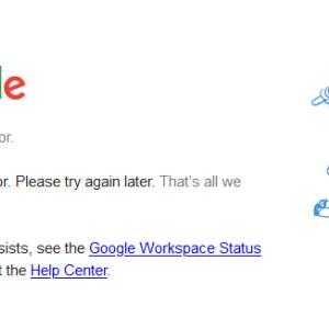 Google大規模障害か?You Tubeもアクセス不能