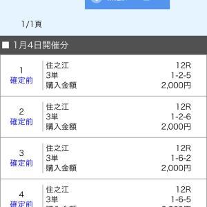 ボートレース尼崎&住之江 2020/1/4 的中!