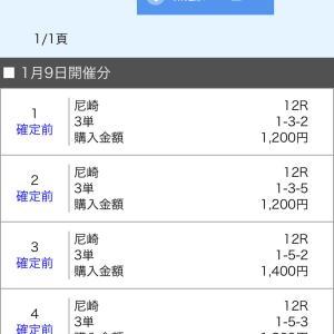ボートレース尼崎&戸田 2020/1/9