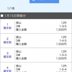 ボートレース徳山 2020/1/15