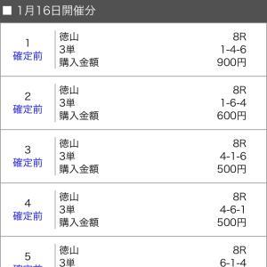 ボートレース徳山 2020/1/16