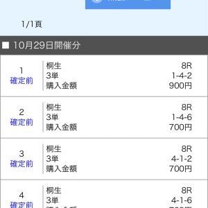 ボートレース桐生 2020/10/29  的中!