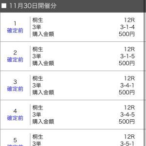 ボートレース桐生 2020/11/30