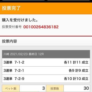 G1全日本選抜競輪(川崎競輪)2021/2/23