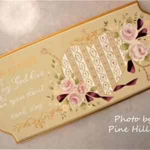 リボンと薔薇のメッセージボード♡上級作品