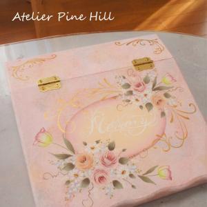 ピンク可愛い薔薇のセクレタリーボックス♡