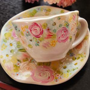 【募集】トールペイント1dayレッスン♡お花満開の和食器ペイント