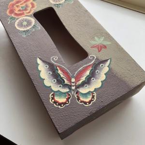蝶々のティッシュボックス♡素敵アレンジトールペイント