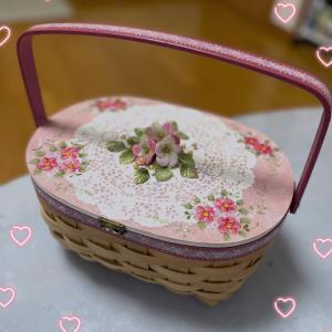 クレイで透け感♪陶器のようなお花♡粘土&トール生徒さん作品「小花」