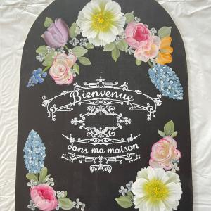 ブラックベースにカラフルサイン♡詠子先生のお花