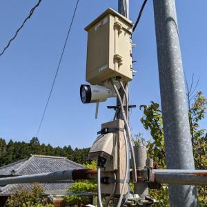 田んぼ監視カメラ設置