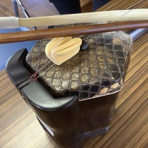 名東町三線教室 珍しい楽器を見せてもらいました