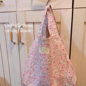 (教室便り) エコバッグ、がま口、布マスク完成など