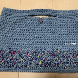 ペタンコバッグ編みました
