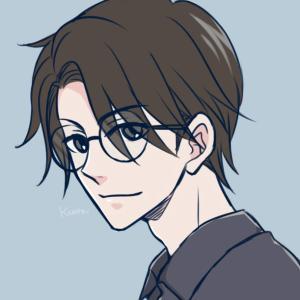 らくがき16*シンプル系眼鏡男子