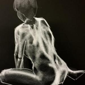 Nude-Muse-angel-Tableau-ヌード-芸術-アート-絵画:初秋