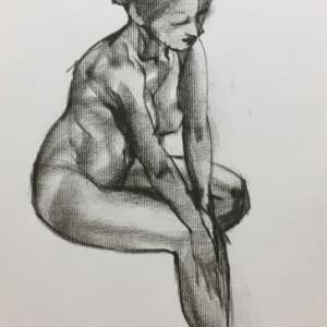 Nude-Muse-angel-Tableau-ヌード-芸術-アート-絵画:台風最接近