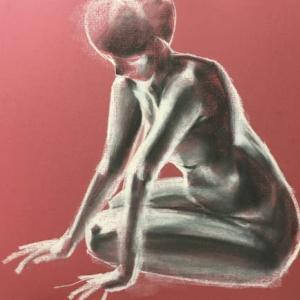 Nude-Muse-angel-Tableau-ヌード-芸術-アート-絵画:静寂