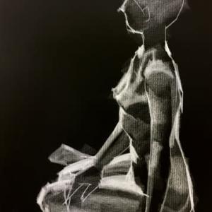 Nude-Muse-angel-Tableau-ヌード-芸術-アート-絵画:丑三つ時