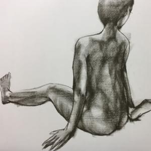 Nude-Muse-angel-Tableau-ヌード-芸術-アート-絵画:甘露