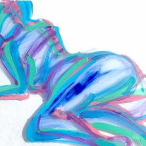 Nude-Muse-angel-Tableau-ヌード-芸術-アート-絵画:透けるトルソ
