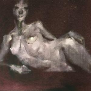 Nude-Muse-angel-Tableau-ヌード-芸術-アート-絵画:秋近し
