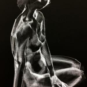 Nude-Muse-angel-Tableau-ヌード-芸術-アート-絵画:忙中閑有り
