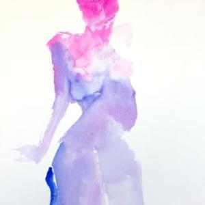 Nude-Muse-angel-Tableau-ヌード-芸術-アート-絵画:透過裸体