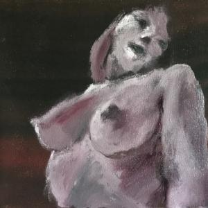 Nude-Muse-angel-Tableau-ヌード-芸術-アート-絵画:たわわ