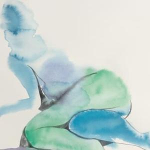 Nude-Muse-angel-Tableau-ヌード-芸術-アート-絵画:朦朧体