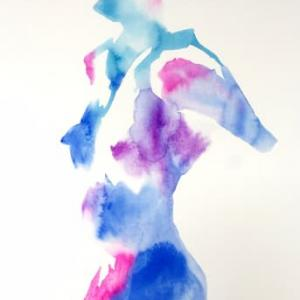 Nude-Muse-angel-Tableau-ヌード-芸術-アート-絵画:溶ける